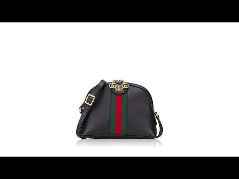 Gucci GG Web Small Ophidia Shoulder Bag Black