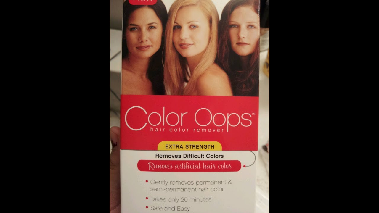 Color Oops First Impression And Review Hair Color Remover Youtube