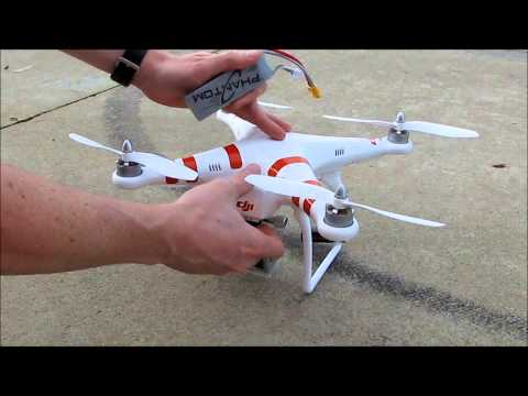 DJI Phantom 1 Beginners Tutorial Review Charging Taking Off Flying Landing Storing Drone Quad