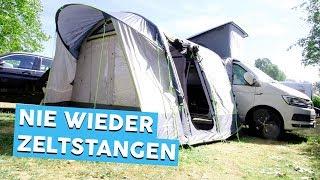 AUFBLASBARES BUSVORZELT   Obelink Test   Campingzubehör   Werbevideo