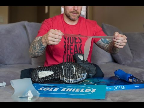 How to apply Reshoevn8r Sole Shields to Yeezy Boost 350 Pirate Blacks