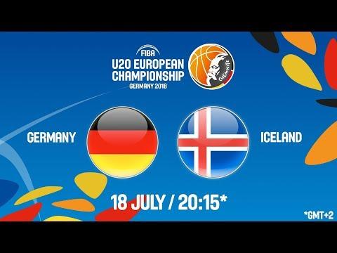 LIVE 🔴- Germany v Iceland - Round of 16 - FIBA U20 European Championship 2018