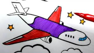 plane drawing for kids | How to Draw an Airplane Easy Step by Step