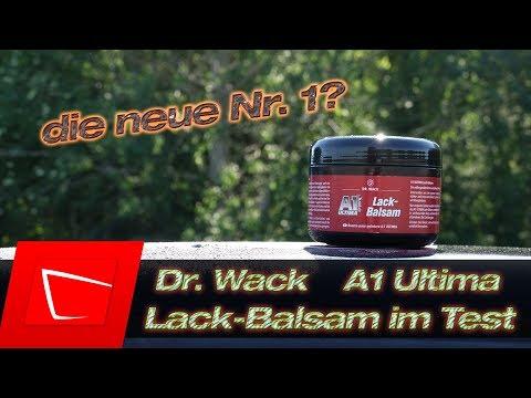 Das neue Dr.Wack A1 Ultima Lack-Balsam im Wachstest - Soft99 Fusso Coat 12M im Vergleich