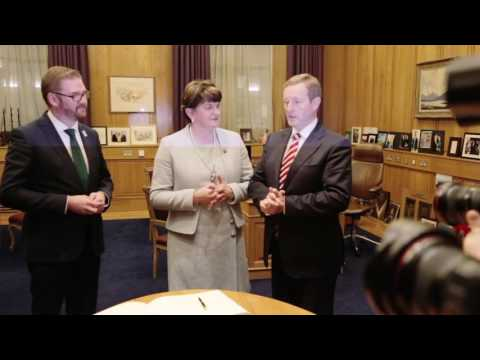 First Minister Arlene Foster at Government Buildings