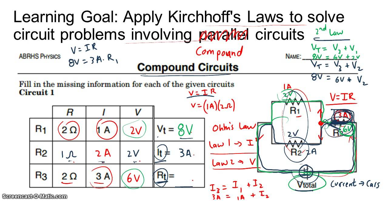Compound Circuit Problems Experience Of Wiring Diagram Resistors In A Seriesparallel Combination Dc Youtube Circuits Rh Com