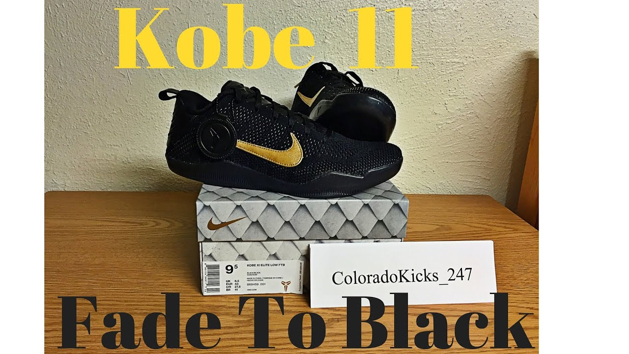 5b8ae2ba2d57 Kobe 11 Fade To Black (FTB) Unboxing and Review - YouTube