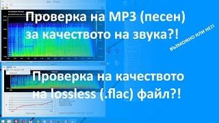 Проверка на качеството на звука на аудио файл (FLAC, MP3)