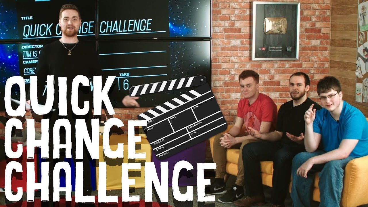Office Antics Quick Change QUICK CHANGE CHALLENGE! - MAX, ROSS, RED AND BARNEY TRY TO IMPROV