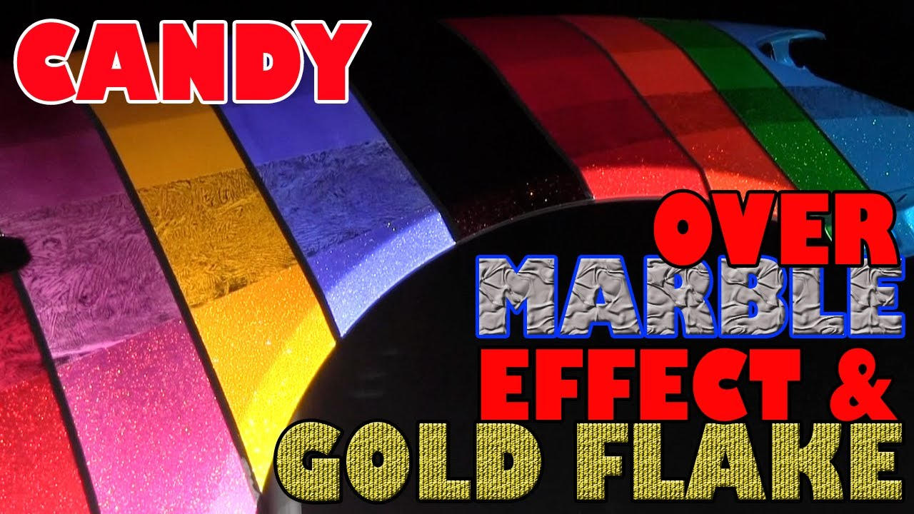 Candy Paint Over Marble Effect And Gold Flake Youtube