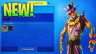 *NEW* SCARECROW SKINS, GLIDER & PICKAX in Fortnite!