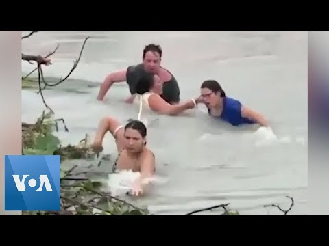 Hurricane Dorian: Flood Victims Swim to Safety in Bahamas