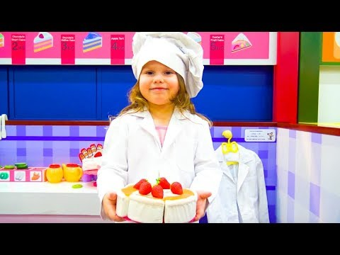 Agnes pretend play Cooking and Food Dery w Cool Kids Kitchen and Food Toys