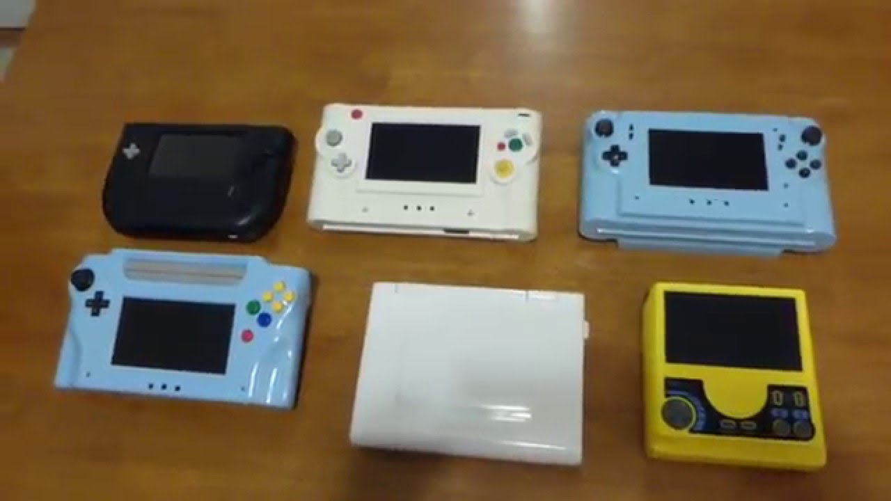 My Collection of Home made Video Game Handhelds N64 Genesis PS2 Gamecube  PCE / TG-16 Wii Laptop 2016