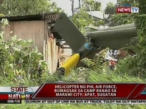 SONA: Helicopter ng PHL Air Force, bumagsak sa Camp Ranao sa Marawi City; Apat, sugatan