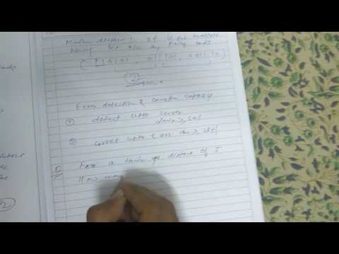 Last moment topic on generation code(hamming code, hamming distance,generator matrix)study material