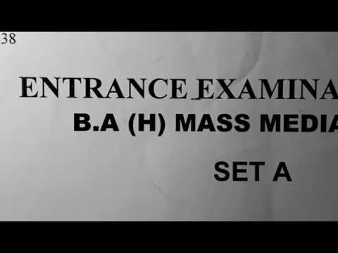 BA(H)JOURNALISM HINDI 2018 SOLVED Entrance  QUESTION PAPER PART1