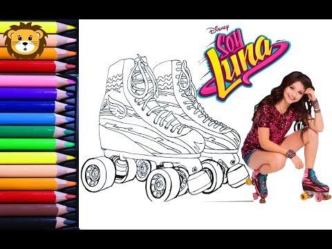 Como Dibujar Soy Luna Y Sus Patines Dibujos Para Niños Draw