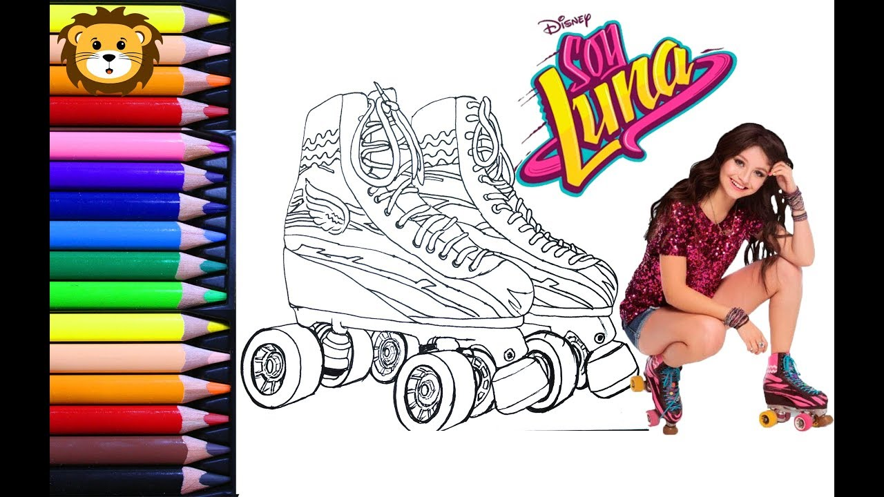 Como Dibujar Soy Luna Y Sus Patines Dibujos Para Niños Draw And Coloring Book For Kids