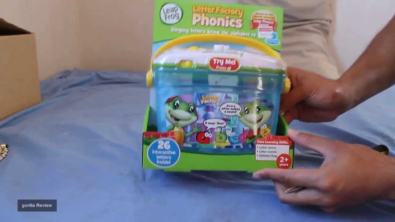 leap frog letter factory phonics review out of the box youtube