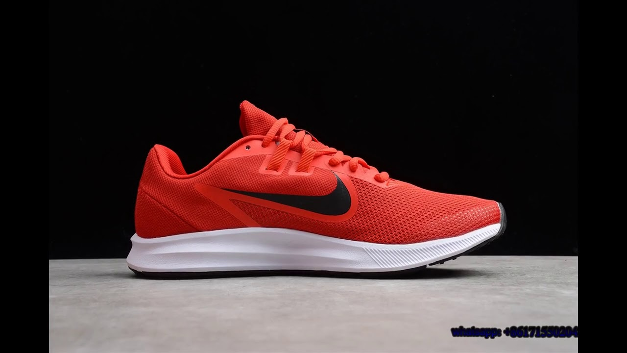 Red and Black Nike Downshifter 9 - YouTube