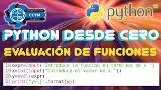 Evaluación de funciones | Tres opciones │Sympy │ Python desde cero│¡Muy fácil!