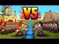 Minecraft | STEVE ARMY VS ALEX ARMY! (Massive Mob Battles)