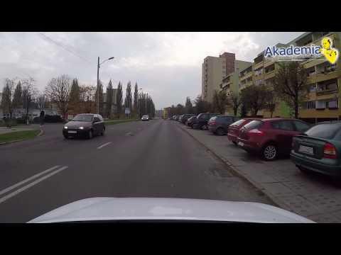 Trasa egzaminacyjna Szczecin nr.1 Prawo jazdy
