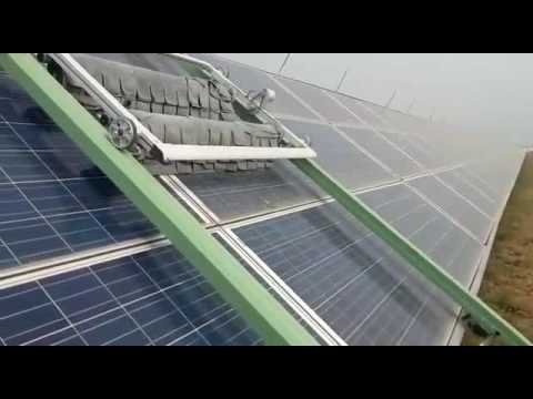 Robotic Dry Cleaning System for Solar PV panel cleaning at NTPC Dadri