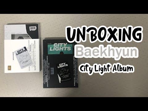 백현 City Lights 1st 미니앨범 Day Night Full Ver Unboxing Youtube