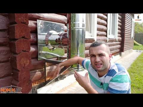 Советы по установке печи и дымохода в деревянном доме