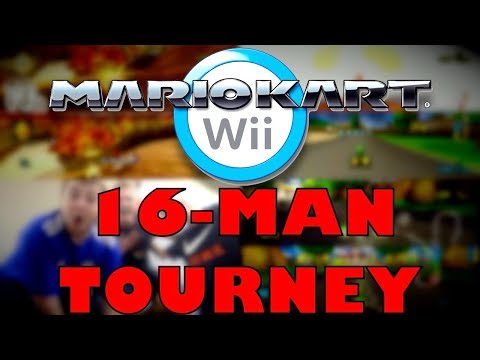 EPIC 16-Man Double Elimination Mario Kart Wii College Tournament (BEST HIGHLIGHTS)