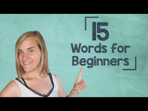 lingoni GERMAN (1) - 15 Words for ABSOLUTE Beginners - A1 [2019 Version]