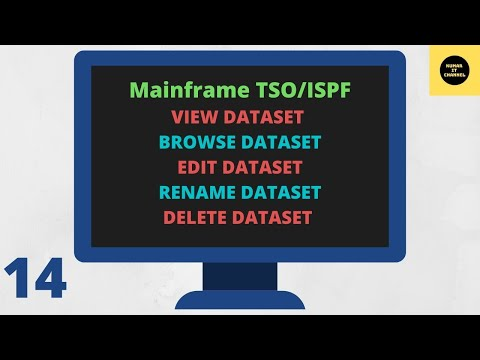 Mainframe Basics ISPF Browse View Edit Rename Delete 14