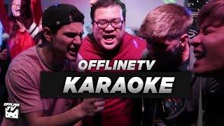 SINGING IN PUBLIC (POORLY) | OFFLINETV & FRIENDS TRY KARAOKE thumbnail