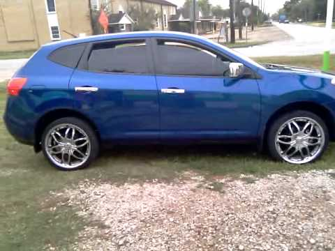 nissan rogue on 20s - YouTube