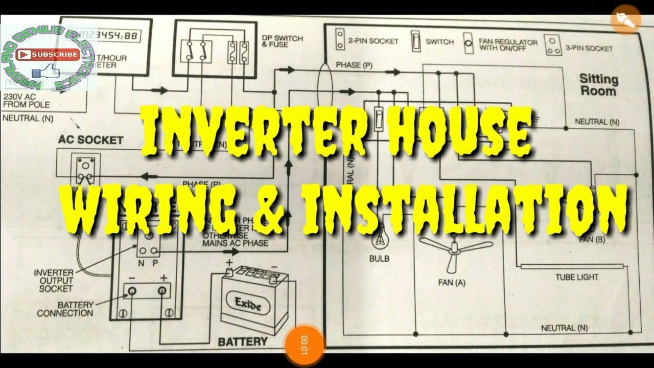inverter wiring installation diagram [ 1280 x 720 Pixel ]
