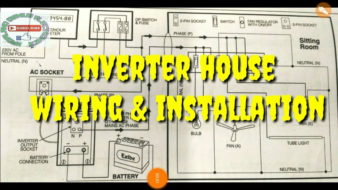 Inverter Wiring Installation Diagram Youtube