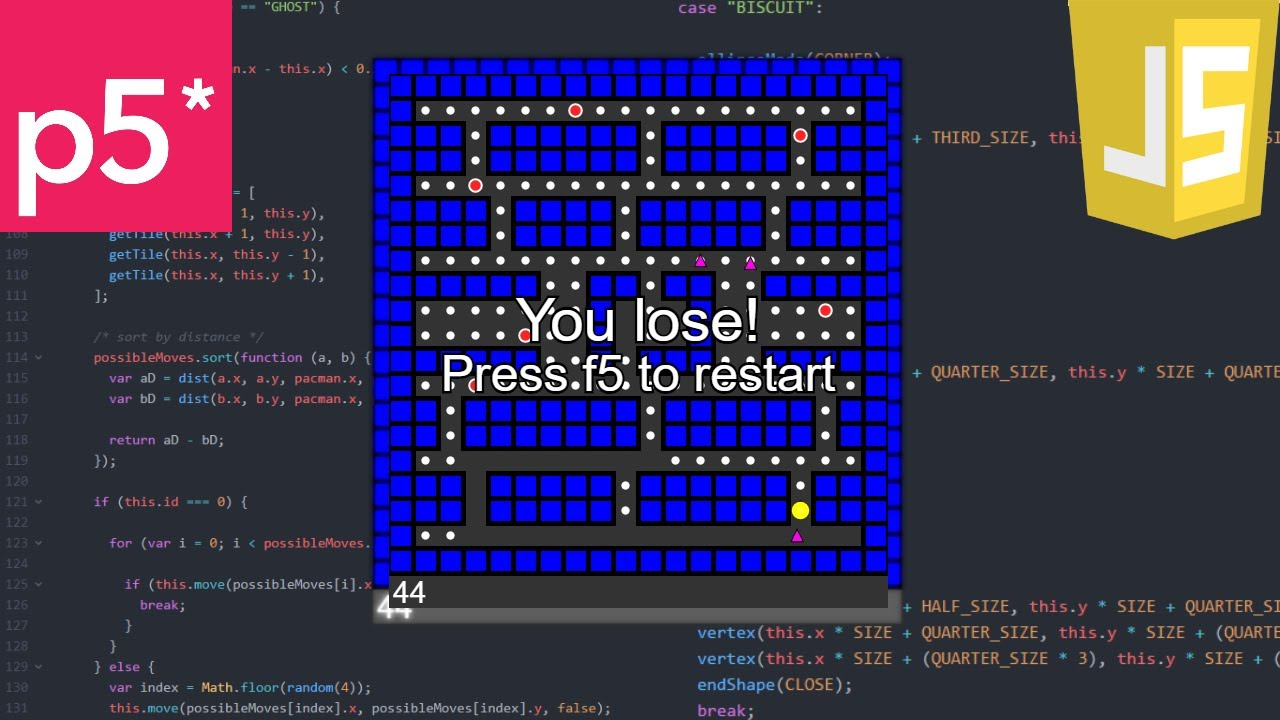 a game a day 4 javascript pac man