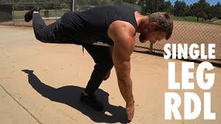 How to Perform Single Leg Romanian Deadlifts | Bodyweight Exercise Tutorial
