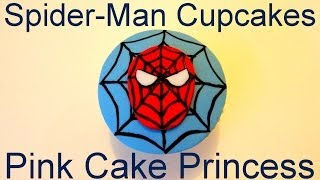 How to Make Spider-Man Cupcakes - A Cupcake Decorating Tutorial by Pink Cake Princess