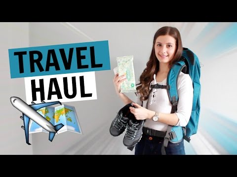 TRAVEL HAUL | OSPREY BACKPACK, MERRELL HIKING SHOES, GOPRO, TOILETRIES