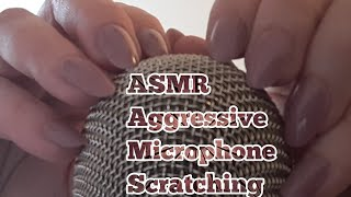 ASMR Aggressive Microphone Scratching(No Talking)