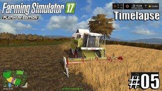 Farming Simulator 17 - Gwenddwr Farm With Seasons - Timelapse #5 - First Harvest