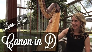 Lorie Line's Canon in D, harp wedding music ~ Tiffany Envid, harpist