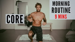 CORE WORKOUT | MORNING ROUTINE | 9 MINUTES