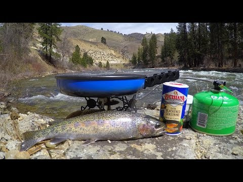 Catch and Cook Wild Trout Deep in the Mountains