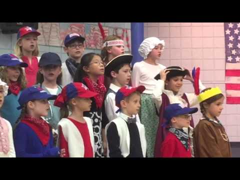 """Torrin singing at 2nd grade musical """"Fifty Nifty United States"""""""