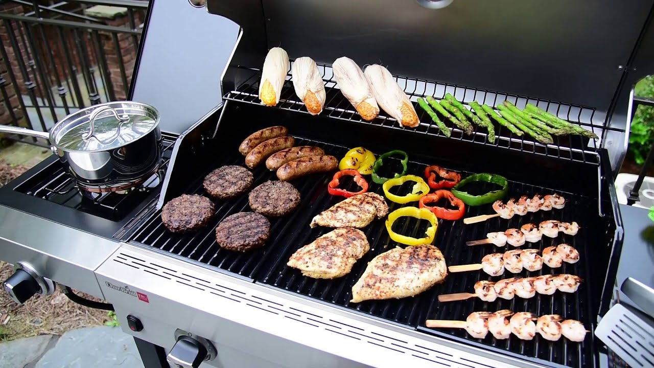 Char Broil Tru Infrared Performance 3 Burner Gas Grill Youtube
