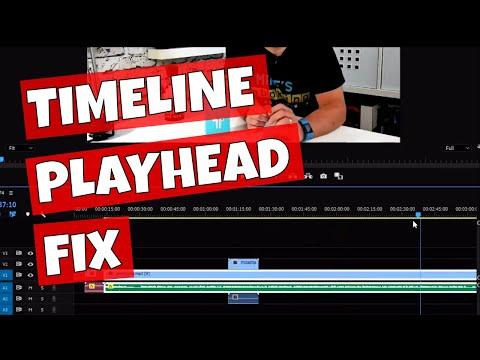 Adobe Premiere Pro Timeline Play Head Stuck Glitch Fix